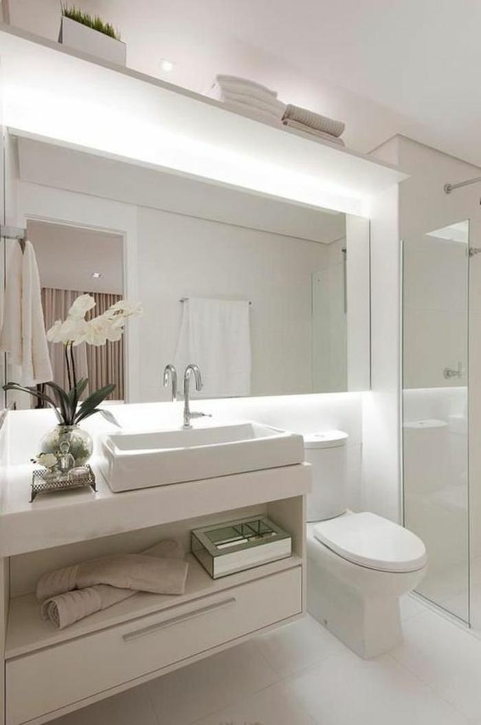 miroirs salle de bain lumineux blancheur zen et éclat total effet grand écran
