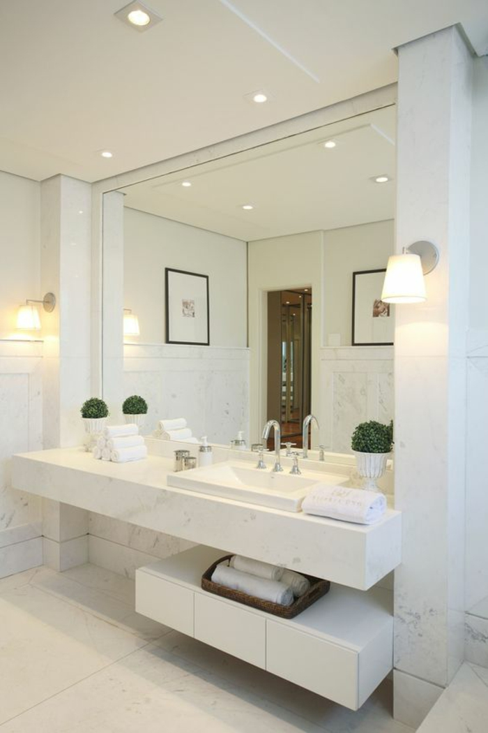 Miroir avec etagere salle bain miroirs sans plomb de 595 for Miroir salle de bain lumineux