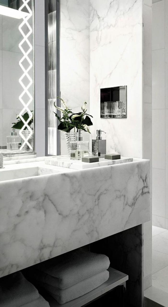 1001 id es pour un miroir salle de bain lumineux les - Miroir salle de bain eclairage integre ...