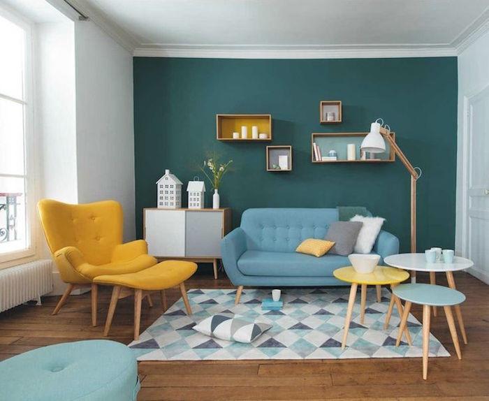 idée de décoration de salon meubles design suedois retro