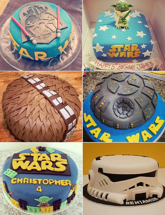 Idée gateau d anniversaire Star wars anniversaire modele gateau homme anniversaire