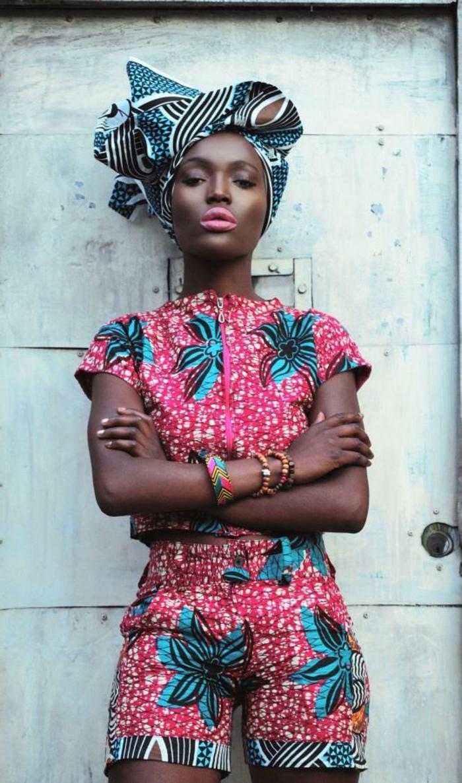 Modele ensamble africaine robe en pagne tendance