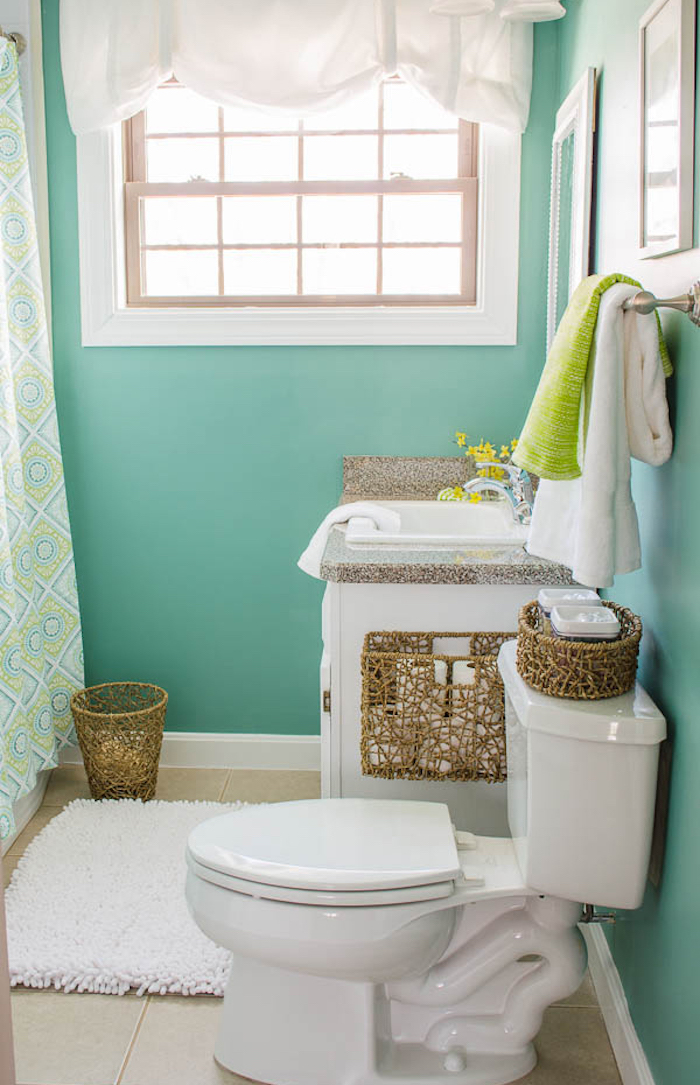1001 id es 40 id es pour une d co wc r ussie for Pretty small bathroom ideas