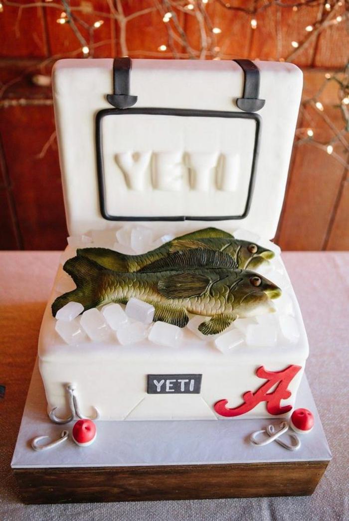 Decoration gateau garcon gateau d anniversaire homme poissons