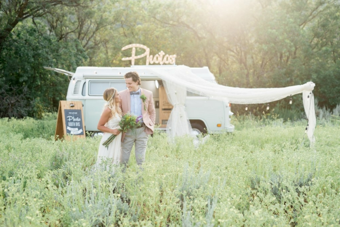 louer photomaton mariage mobile, un mariage de style bohème chic