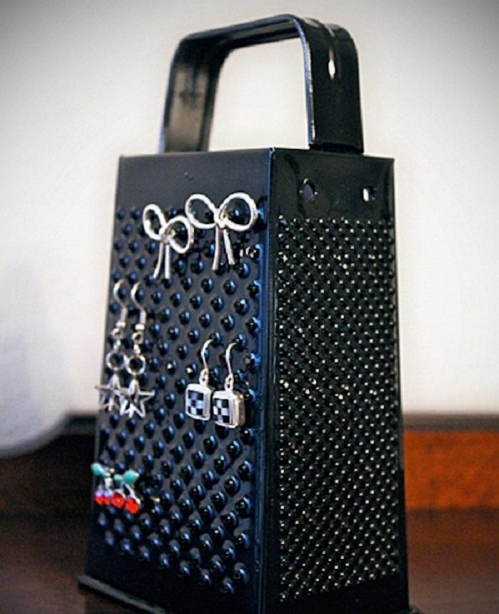 porte bijoux cerf boite boucle d oreille rape fromage noire
