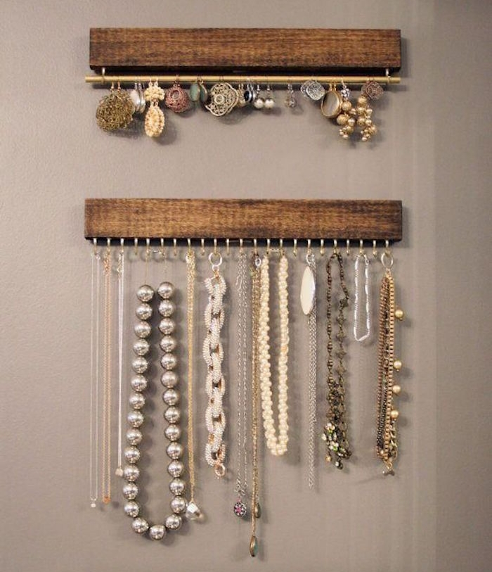 porte bijoux mural support colliers mur diy