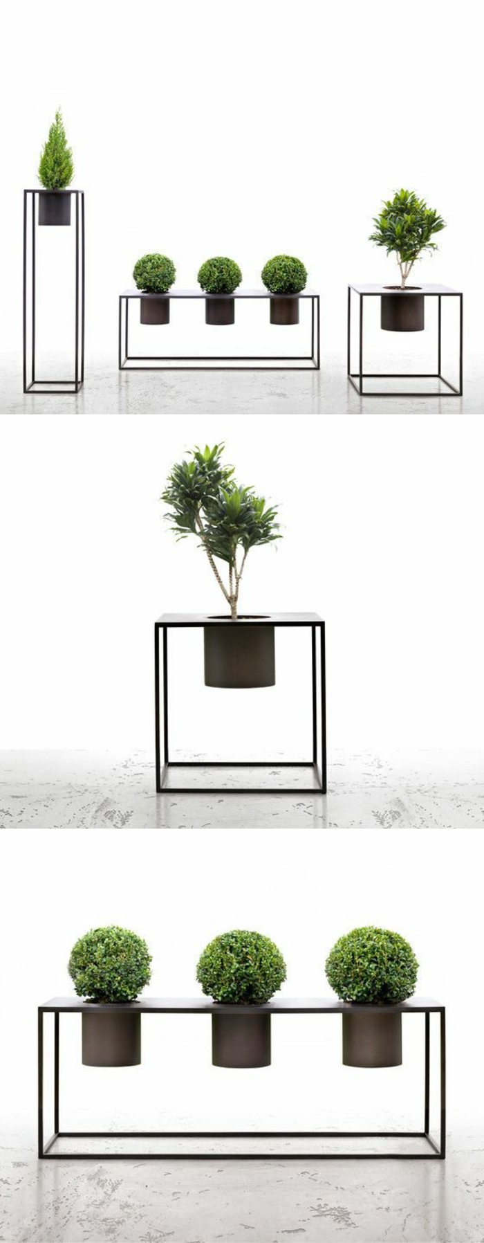 1001 id es pour porte plante les mod les en bois en verre et en m tal. Black Bedroom Furniture Sets. Home Design Ideas