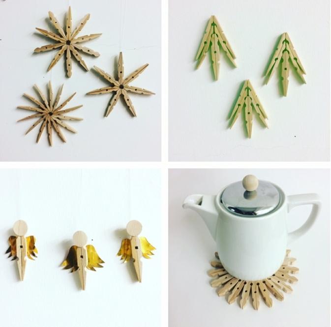 que faire avec des pinces à linges vintage, jolies idées déco pour recycles ses épingles à linge vintage