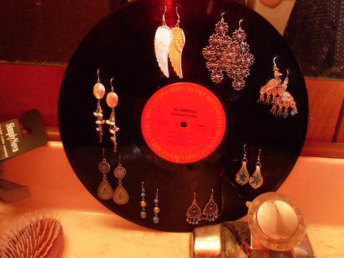recycler support bijoux disque vinyle diy