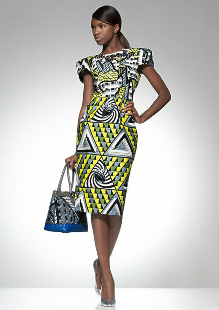 Le modele robe pagne mode africaine moderne