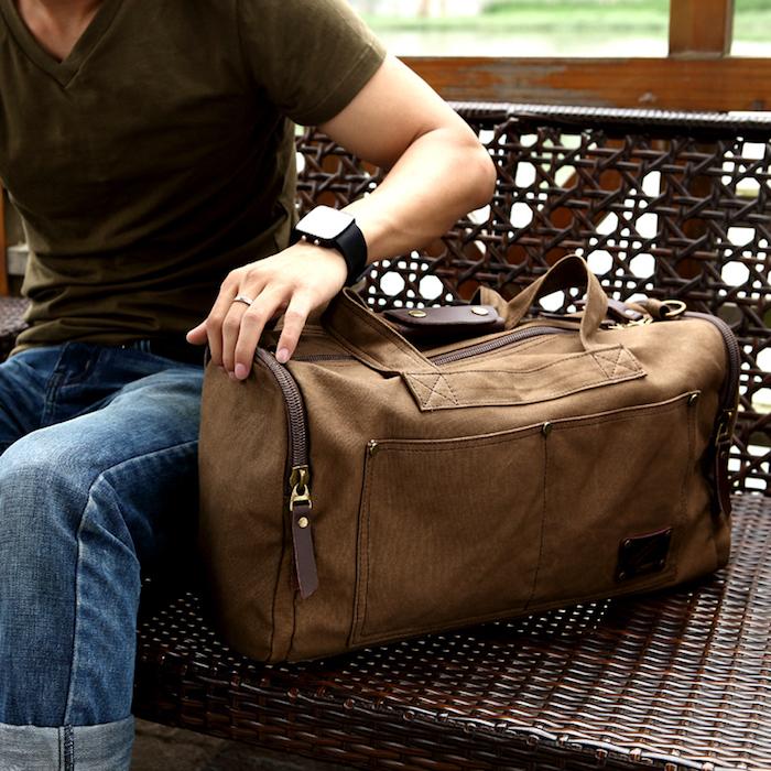 sac voyage week end homme cuir luxe style