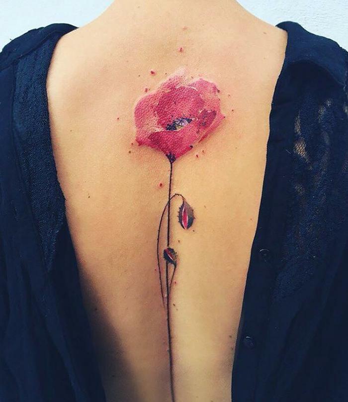 Top ▷1001+ idées de tatouage de fleur et quelle est sa signification BY95