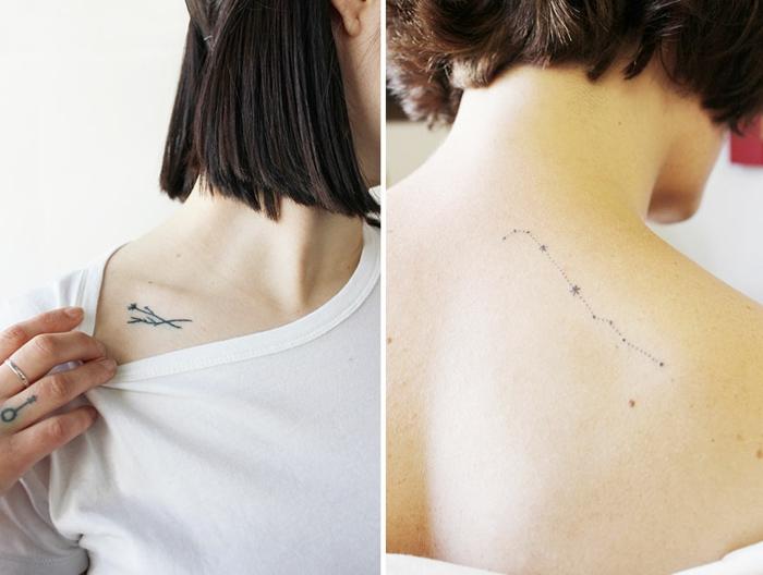 Super ▷1001+ idées de tatouage de fleur et quelle est sa signification WU03