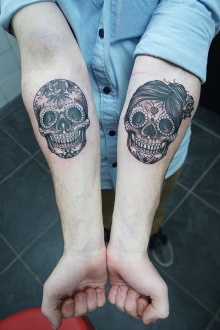 Tatouage Avant Bras Tete De Mort Femme Idees De Tatouages Et Piercings