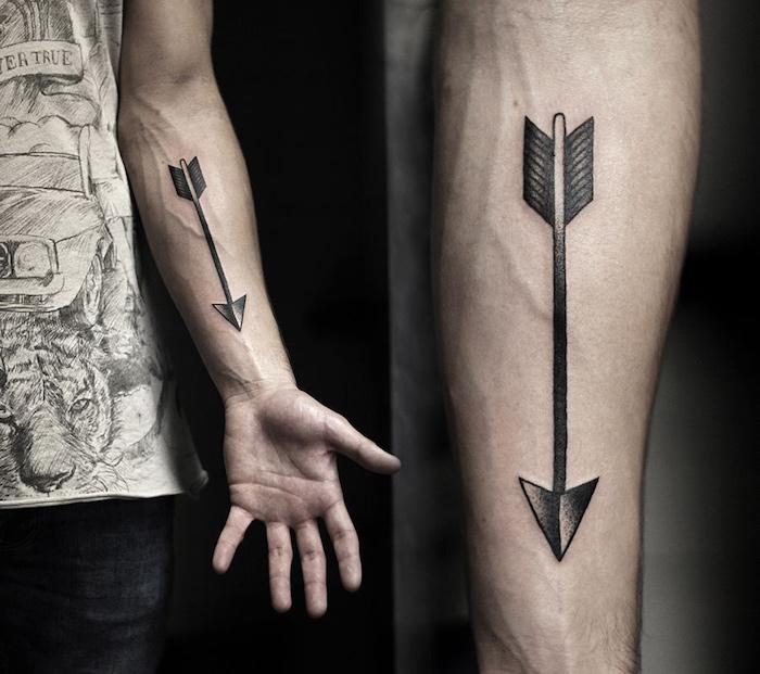 tatouage fleche avant bras homme prix modele tattoo guerrier
