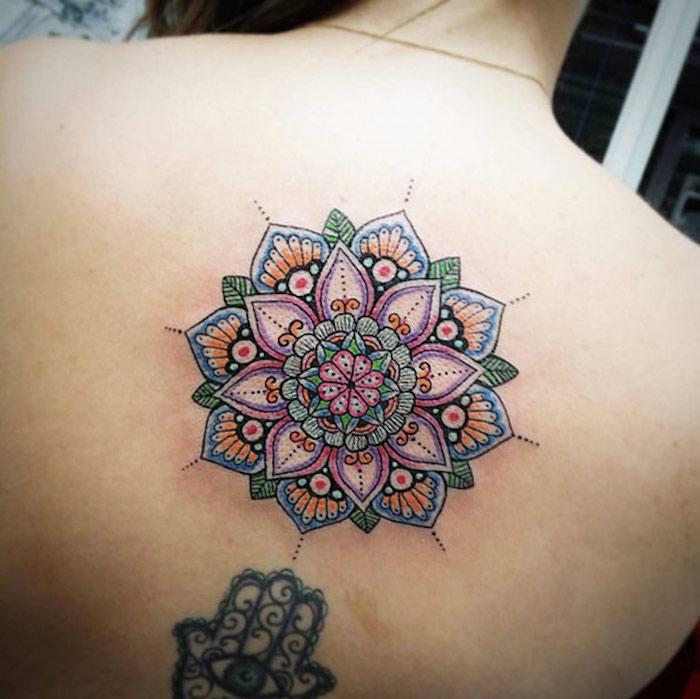 1001 id es tatouage mandala bien plus qu 39 un simple tattoo - Mandala tatouage femme ...