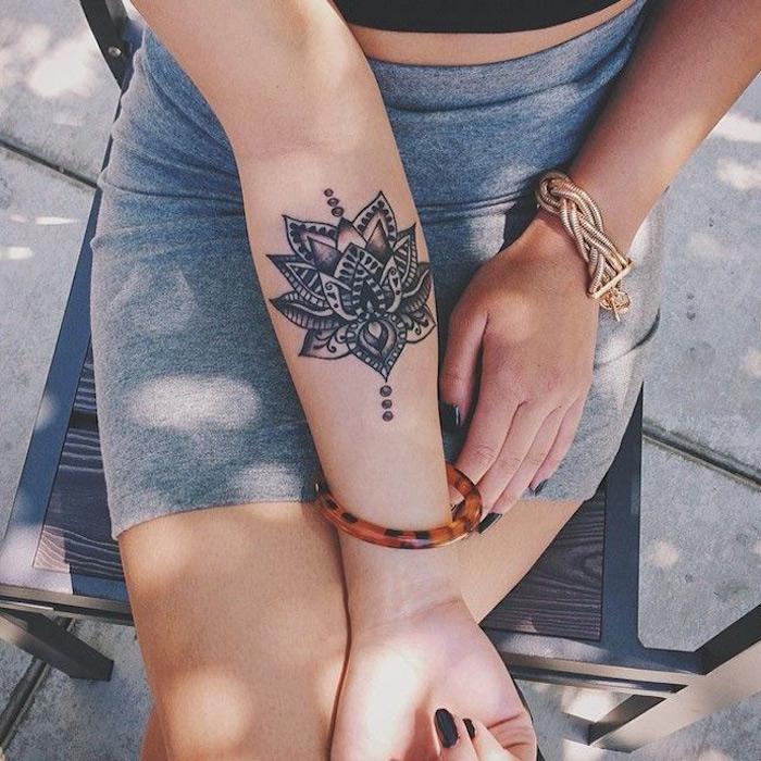 Dessin Tatouage Mandala Poignet Femme Kolorisse Developpement