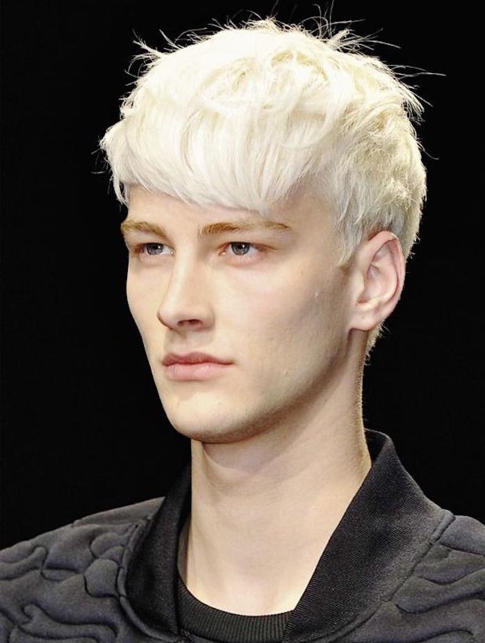 teinture blonde homme blond cendré meches blondes platine