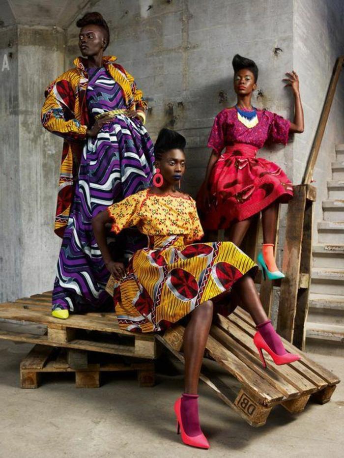 tenue africaine, robes inspirées de la tradition africaine, chaussures à hauts talons