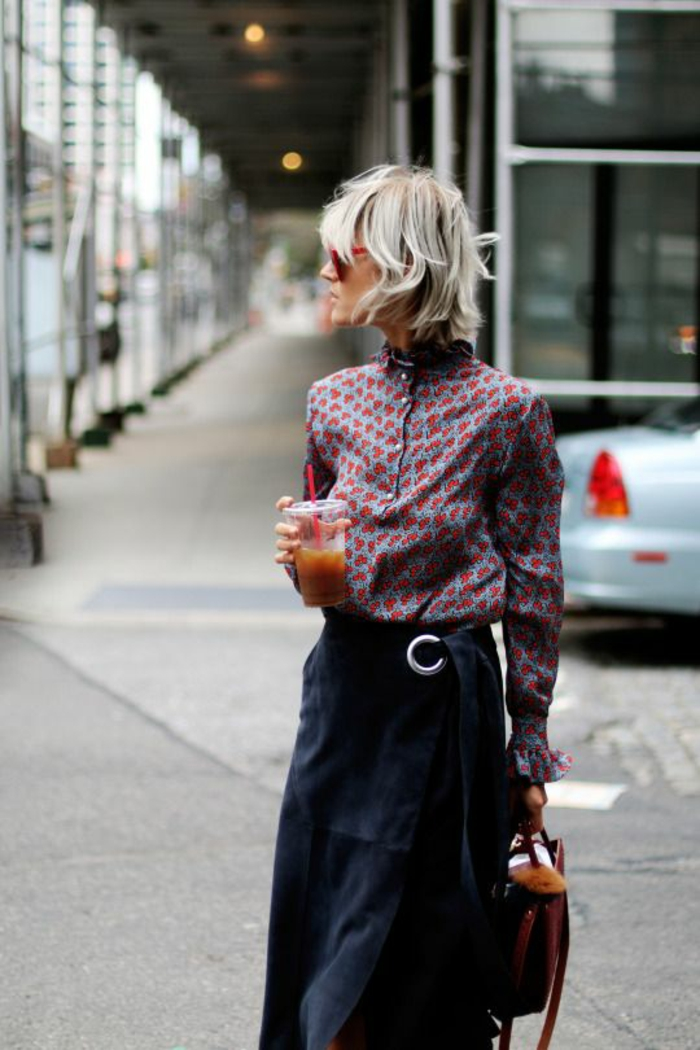 tenue de tous les jours idée chemise jupe longue