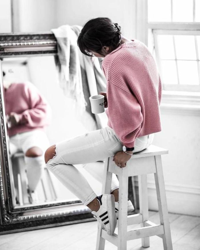 tenue pour les cours comment s habiller jean blanc