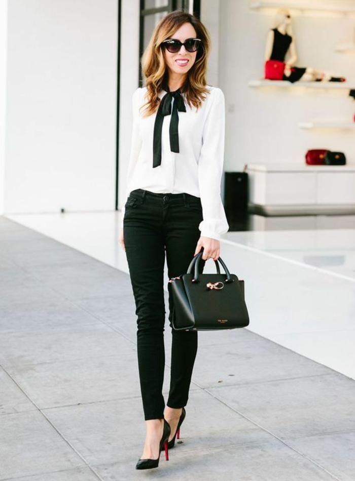 changer de style vestimentaire jeune femme chemise blanche classique tenue