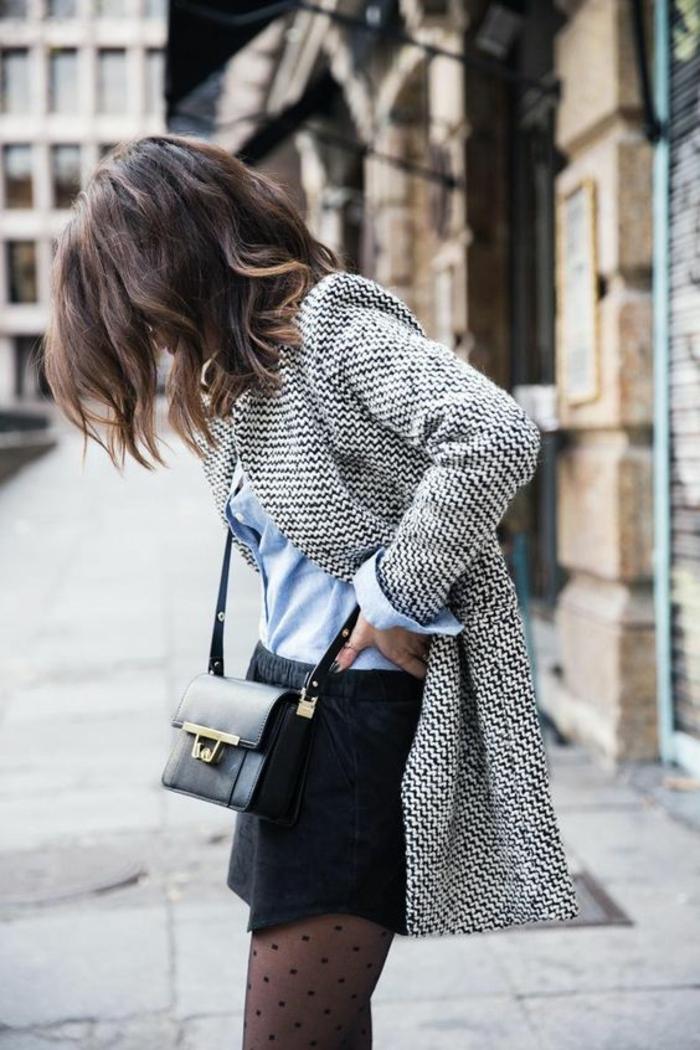 vêtements de base idée chemise bleu panalon court hiver