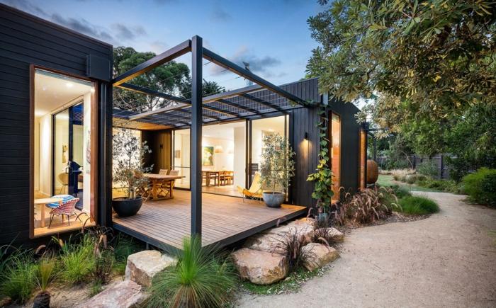 terrasse bois peinte. Black Bedroom Furniture Sets. Home Design Ideas