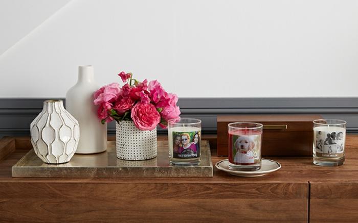 bouegoirs personnalisés avec des photos imprimées, cadeau fête des mères à fabriquer, décoration maison