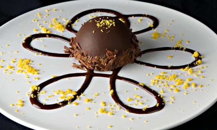 Superbe presentation assiette dessert idée diy inspiration chocolat