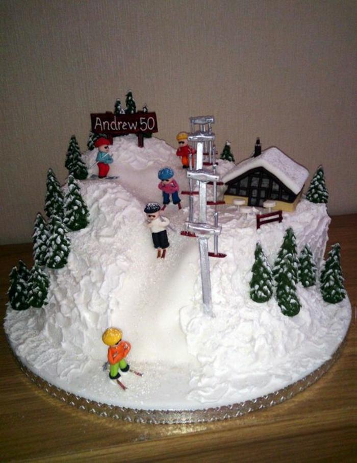 Photo dessert pour anniversaire gateau anniversaire original facile ski