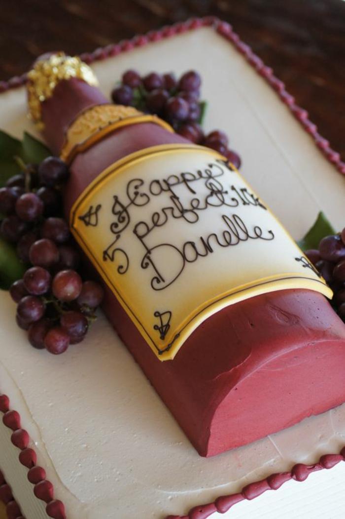 Modele gateau anniversaire gateau spécial anniversaire vin