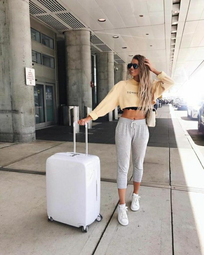Tenue de voyage conseil vol long courrier voyage pantalon sport