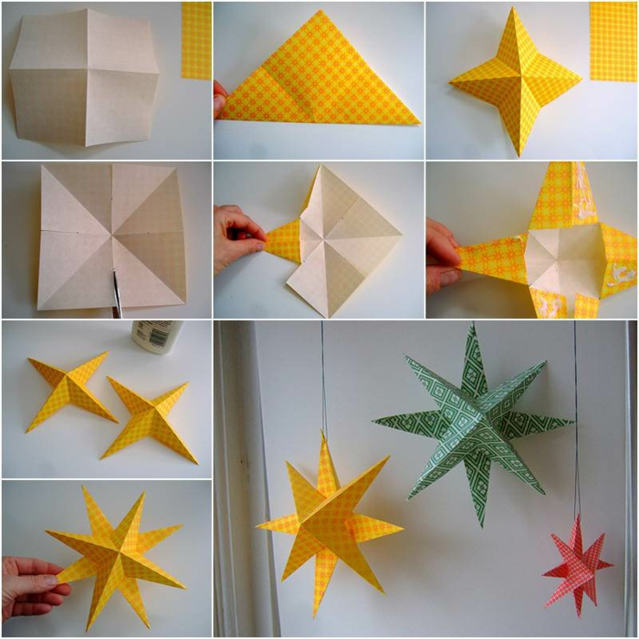 1001 id es originales comment faire des origami facile - Comment faire une decoration de noel en papier ...