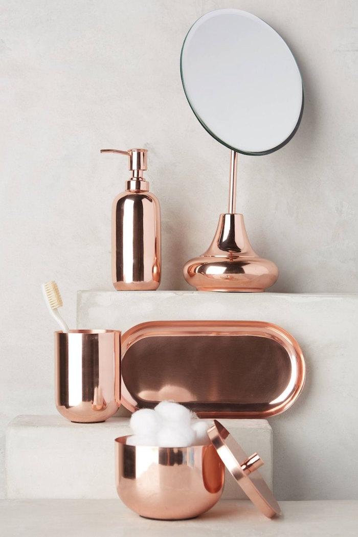 aménagement salle de bain salles de bains accessoires décoration cuivre ensemble design meubles aménager