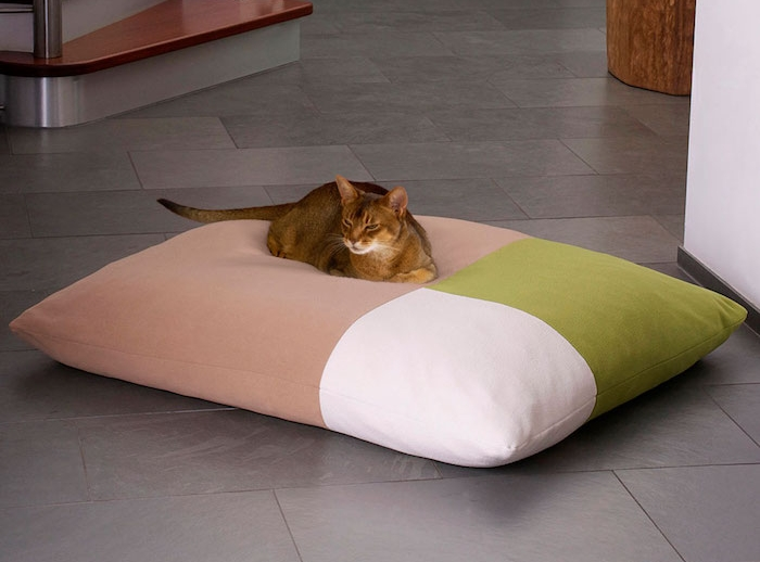 coussin chat tricolore style couchage oreiller pour chats
