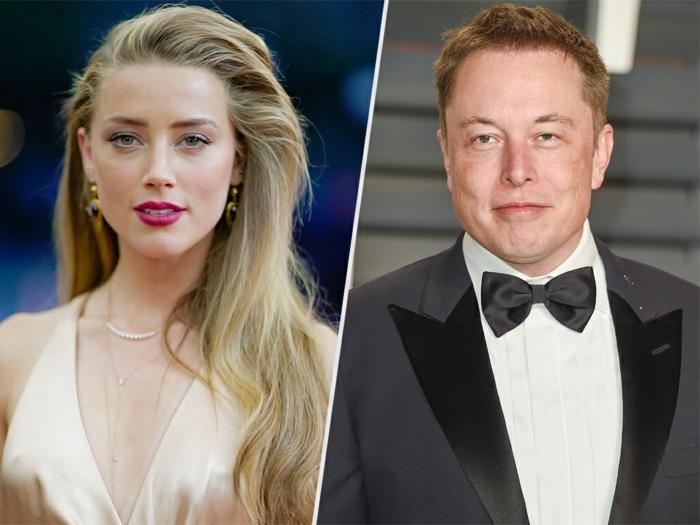 les nouveaux duos célèbres, l'actrice américaine et ex-femme de johnny deppe amber heard et sa nouvelle flamme l'homme d'affaire elon musk