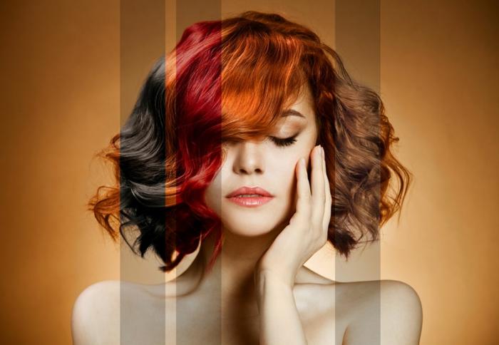 Idée couleur de cheveux bordeau croisan coiffure