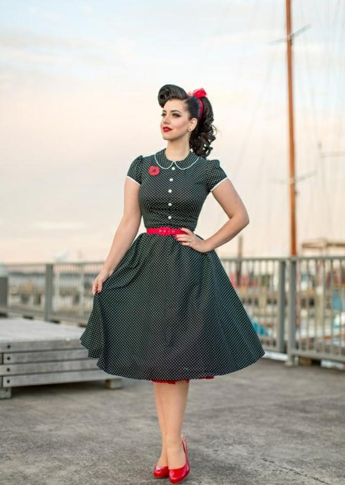 Chic robe vintage année 50 robe guinguette idée