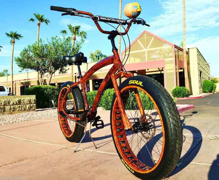 americain chopper vélo custom beach californien
