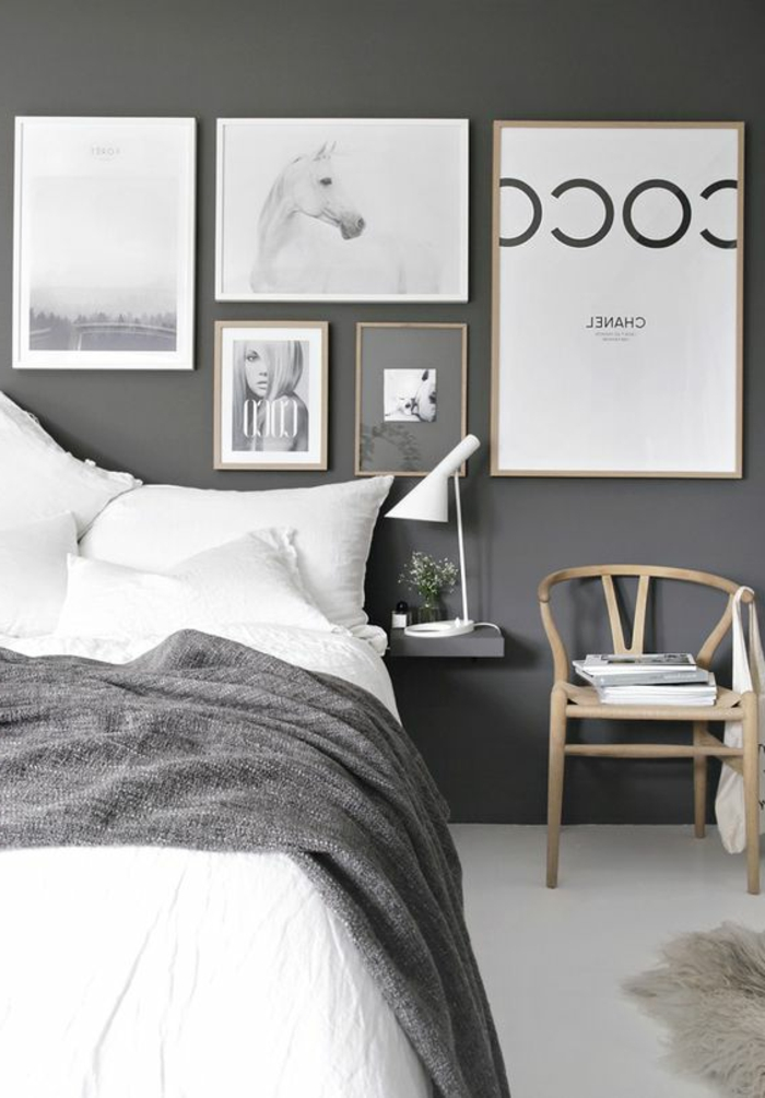 association de couleur avec le gris. Black Bedroom Furniture Sets. Home Design Ideas