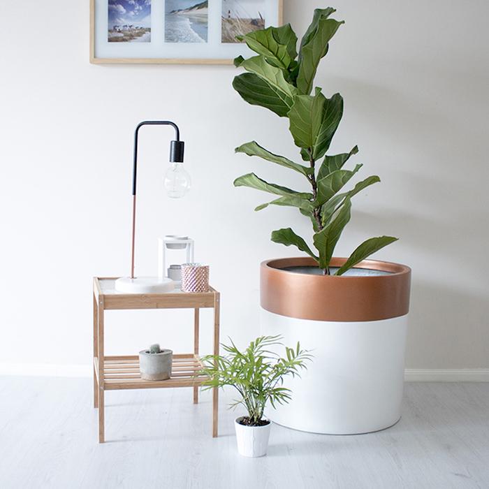 grand pot de fleur design et moderne pour deco scandinave