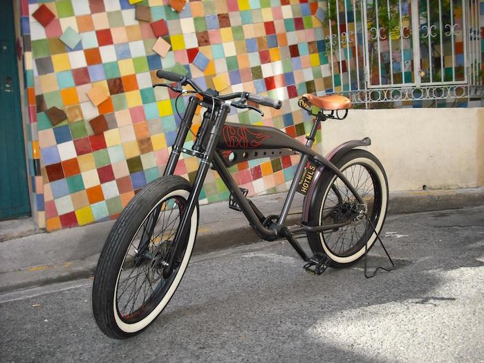 vélo long style moto américaine lowrider