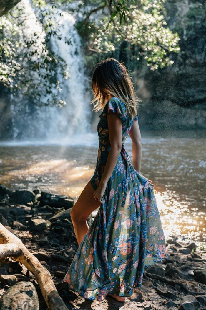 Style bohème robe longue boheme cool idée belle robe