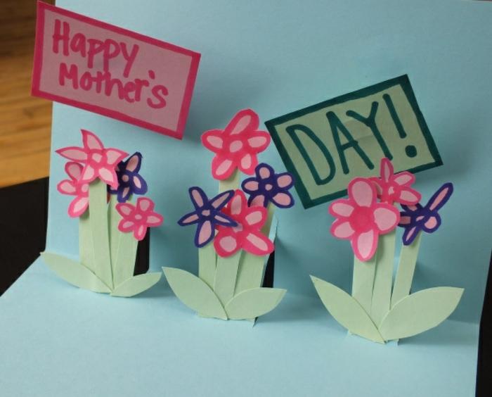 bonne fete des meres, fleurs 3d roses et lilas pour le jour de la mère