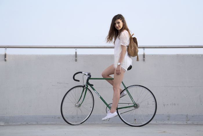 velo fixie femme vert cadre atala single speed simple