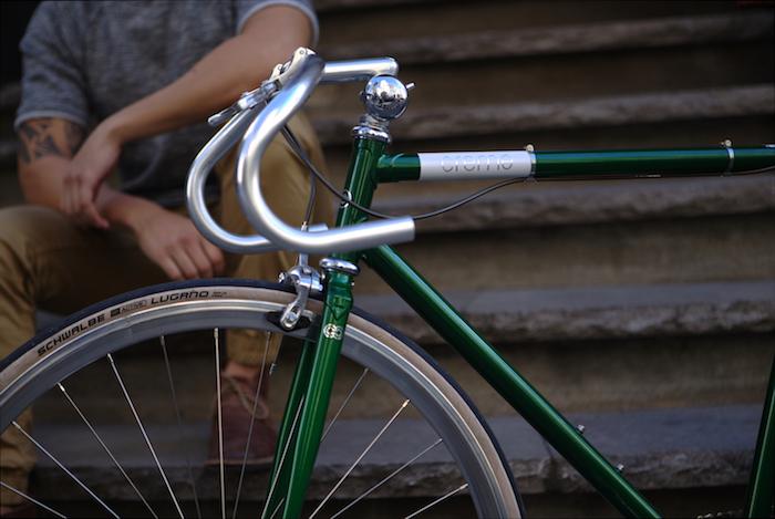 velo fixit vélo fixi fixies velos pignon fixe creme vert foncé chrome vintage