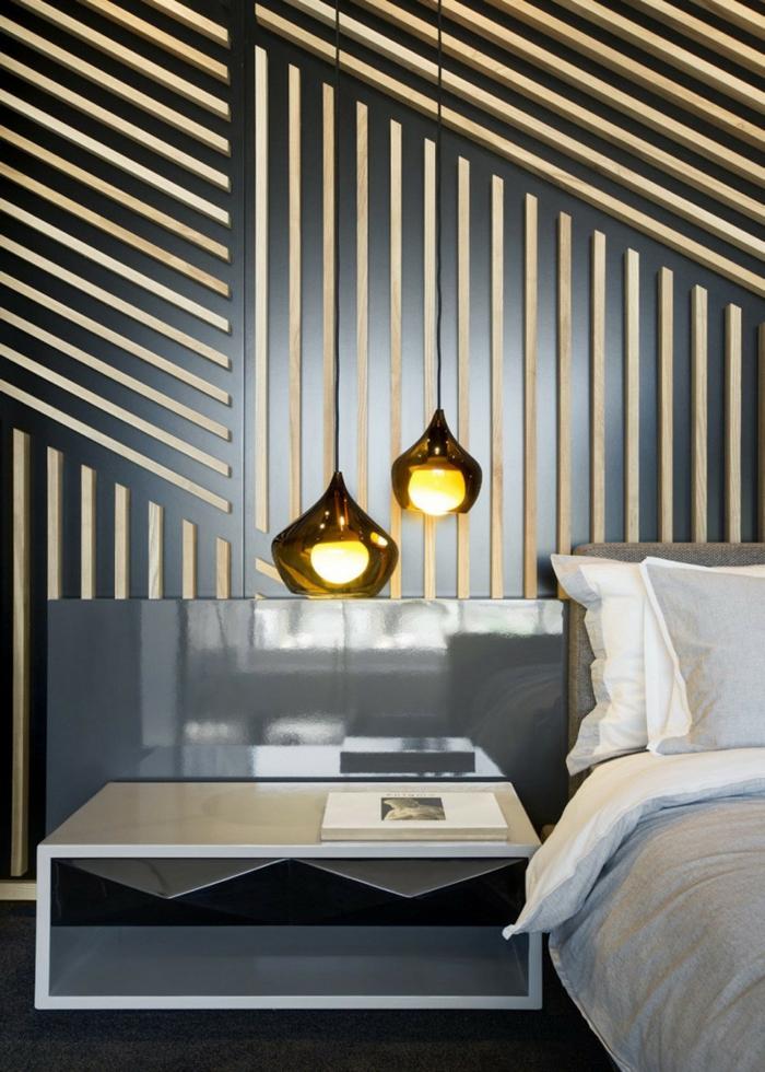 tendance dans l'éclairage de la chambre à coucher, une suspension boule originale de verre soufflé au design goutte d'eau