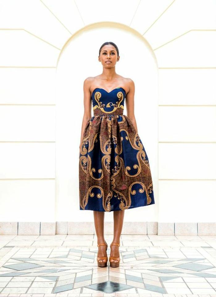 robe ethnique à bustier coeur pour un look élégant et original